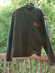 Bigdog Motorcycle 3xl Leather Jacket Zip Out Liner W/patches Thinsulate Lined