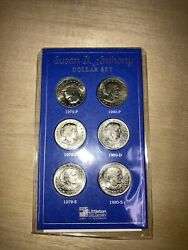 Susan B. Anthony Dollar Complete 2 Year Set 1979-80 Pds Littleton Never Opened