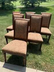 Ethan Allen 6 Townhouse Adison Dining Side Chairs Upholstered Set Of Six