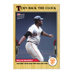 2021 Topps Turn Back The Clock 114 Willie Mccovey San Francisco Giants