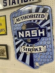 Porcelain Authorized Nash Servive Advertising Sign Double Sided-10772