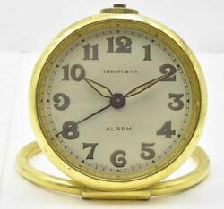 Vintage Authentic / Concord Mov't And Case Desk Travel Alarm Clock Brass