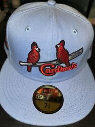 7 1/2 St. Louis Cardinals Sky Blue 1934 World Series Pink Bottom Fitted Hat