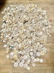 18 Lbs. Vintage Antique Buttons Mixed Lot