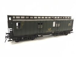 Wunder 15092 Gauge 1 Mail Wagon Brass Dog Aged Boxed For Km1 Kiss