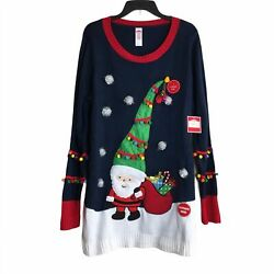 2xl Ugly Christmas Sweater With Lights