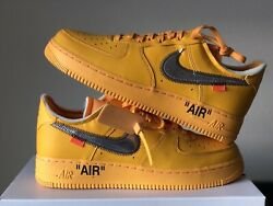 Nike Air Force 1 Low X Off-white University Gold Sz 10.5 Dd1876-700 In Hand