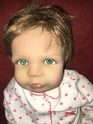 Pat Moulton Signed Realistic Life Like Doll Blue Eyed Girl 19andrdquo