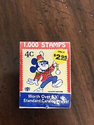 Vintage Matchbook Matches Mickey Mouse Stamps Collectible