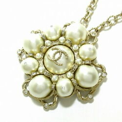 Coco Mark Necklace Ivory Silver Clear Metal Material