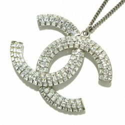Necklace Big Coco/ Silver Clear Metal Material