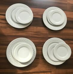 2002 Trellis Farberware Dinner Plates Bread And Butter Plates And Saucers