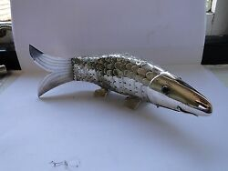 Sterling Silver Miniature Fish, Part Box, Middle Eastern 1900 Great Moving Item