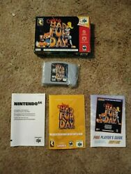 Nintendo 64 Conker's Bad Fur Day With Box And Instructions F/s