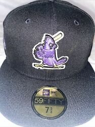 7 5/8 St. Louis Cardinals Black 1964 World Series Purple Bottom Fitted Hat