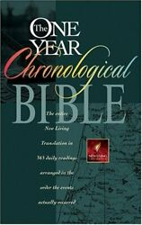 One Year Chronological Bible, Nlt By Tyndale - Hardcover Mint Condition