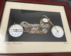Museum Piece Harley Davidson Art Deco Collectible Made Out Of Pocket Watches