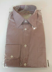Bnwt Holland And Holland Red White Check Loose Fit Check Shirt 16 New Rrp £270