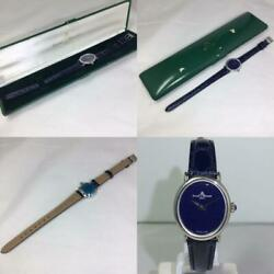 Baume And Mercier Watch With Case Vintage Antique 18k 60s Violet Dial Boxed