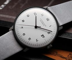 Junghans Max Bill Automatic Men's Watch 027 / 4007.04 White Dial Leather Belt