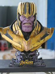 1/1 Life Size Marvel Thanos Resin Silica Gel Bust Statue 80 Cm High With Light
