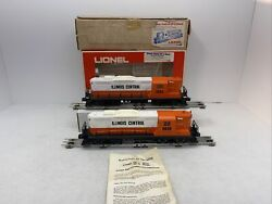 Lionel 6-8030 8254 Illinois Central Gp-9 Diesel Engines Power And Dummy Used O Ic