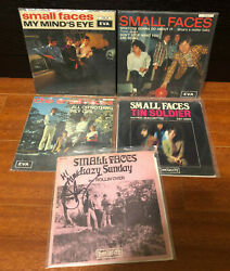 Small Faces Rare And Autographed 7 45 Ps Record Lot Rock Free Shipping