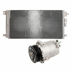 For Chevy Malibu And Saturn Aura Hybrid Ac Compressor W/ A/c Condenser And Drier Tcp