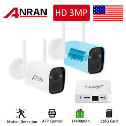 Wireless Security Camera System Battery Powered Outdoor 128g 2way Audio Wifi 3mp