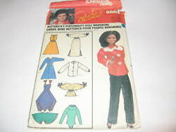 Marie Osmond Personality Doll Vintage Butterick 6664 Pattern Sewing Eng And French