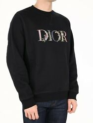 Christian Dior Oversized Flowers Black Sweatshirt Men's Size Small Sold Out