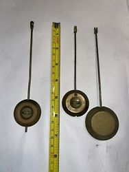 Lot Of Large Antique French Brass Clock Pendulums