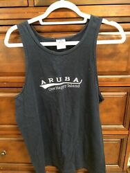 Alystyle Apparel And Activewear Tank Top Navy Blue Size Med Aruba One Happy Island