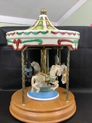 Tobin Fraley 4 Horse Carousel Introductory Edition Willitts Designs Collection
