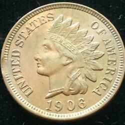 1906 Indian Head Cent Uncirculated Brown - Clipped Planchet Error