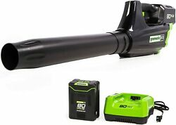 Brand New Greenworks 80v Max 125-mph Brushless Cordless Electric Leaf Blower