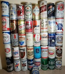 Vtg Beer Can Collection Lot 41 Steel Aluminum Cans Breweriana Bud Modelo St Ides