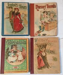 Holiday Stories Chatterbox Joyous Nursery Antique Book Vintage 1900 Lothrop Lot