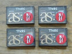 Thatand039s As Iv 90 Minute Blank Metal Cassette Tapes / Lot Of 4 New Rare Japan Made