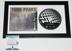 David Lynch Signed Framed Twin Peaks Soundtrack Cd Cover Booklet Beckett Coa Bas