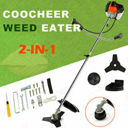 42.7cc Weed Eater Gas Powered 2-in-1 Cordless Grass String Trimmer/edger 2-cycle