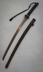 Wwii Japanese Army Officerand039s Sword Antique 37 Authentic Marked
