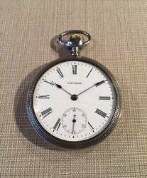 Waltham Waltham Silver Watch 1890s Antique Pocket Watch White Dial Authentic
