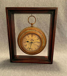 Chateau Joullian Pontet Freres Suspended Battery Clock in Frame. Works Great