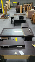 Used Office Desk Furniture And Cabinets, 4 Rows For Sale Each 700.00