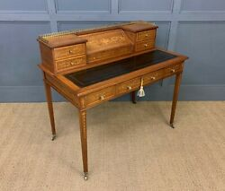 Antique Inlaid Mahogany Writing Desk By Edwards And Roberts C.1900