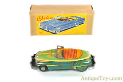 Ichiko Tin Lithographed Friction Andldquoorionandrdquo Japanese Toy Convertible Car In Box