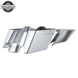 Barracuda Silver Stretched Extend Saddlebags For 14+ Harley Flhr Flhxs Fltrx