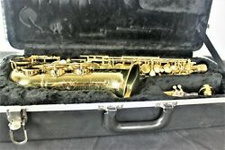 Vintage Hn White King Zephyr Alto Sax 1942 Double Socket Neck And 3 Rings