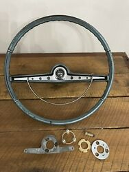 1963 Chevrolet Impala Steering Wheel And Horn Ring W/contacts 1962 1964 Oem Column